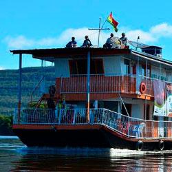FAUNAGUA realizó proyectos a largo plazo en las cuencas del río Iténez, Caine-Grande, Mamoré y Manuripi, Pilcomayo, Bermejo y Paraguay
